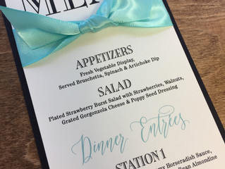 Menu Cards, yes or no