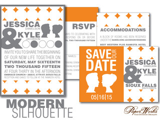 Invitation Spotlight: Modern Silhouette