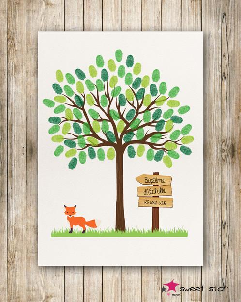 arbre empreintes pour bapt me photocall event d cors photobooth personnalis s. Black Bedroom Furniture Sets. Home Design Ideas