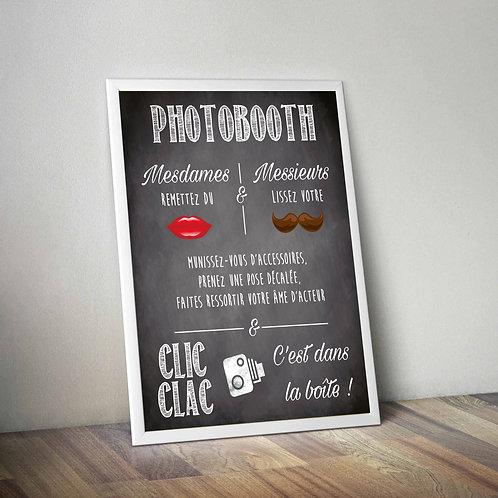 Affiche PhotoBooth 40X60 cm
