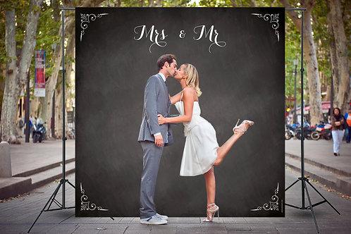 Mariage Ardoise Mrs & Mr