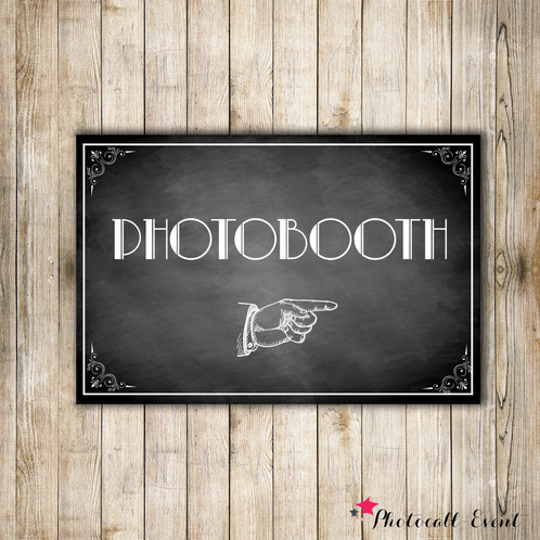 affiche photobooth 20x30 cm photocall event d cors photobooth personnalis s. Black Bedroom Furniture Sets. Home Design Ideas