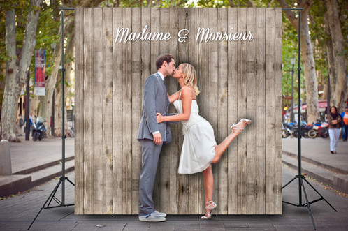 mariage rustique madame monsieur photocall event d cors photobooth personnalis s. Black Bedroom Furniture Sets. Home Design Ideas