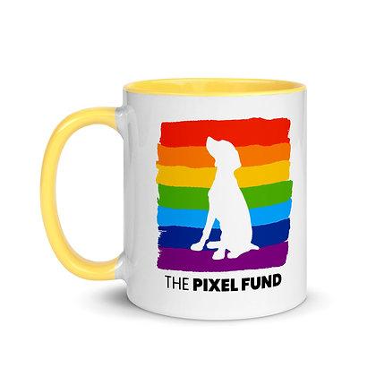 Pixel Has Pride: Dog Mug with Color Inside