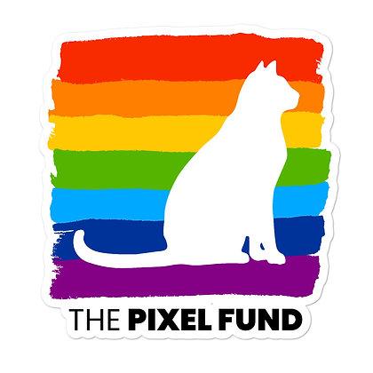 Pixel Has Pride: Cat Bubble-free stickers