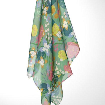 Limited Edition: Floral Chiffon Scarf
