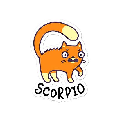 Bubble-free stickers: Scorpio Cat