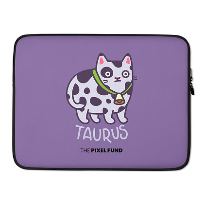 Laptop Sleeve: Taurus Cat