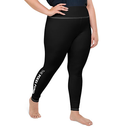 All-Over Print Plus Size Leggings: Black