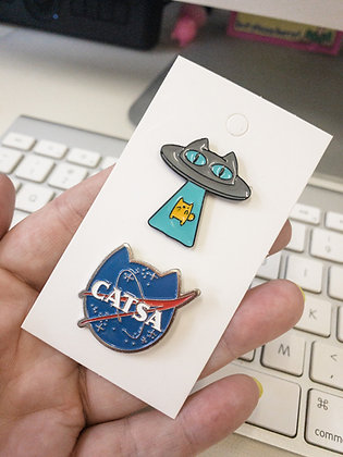 Space Cats 2-pin Set
