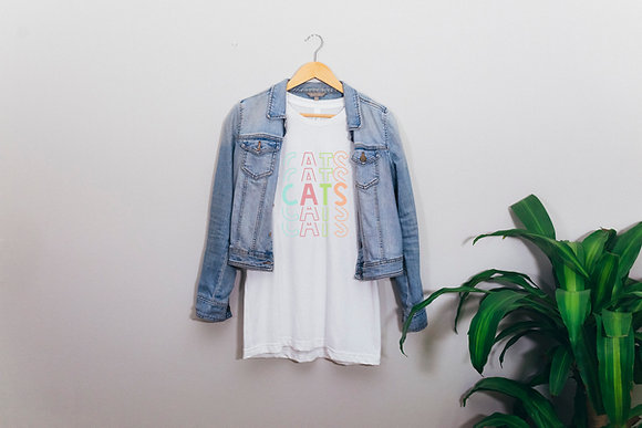 Rainbow Cats Short-Sleeve Unisex T-Shirt