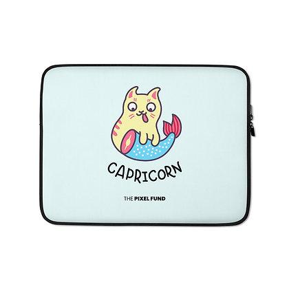 Laptop Sleeve: Capricorn Cat