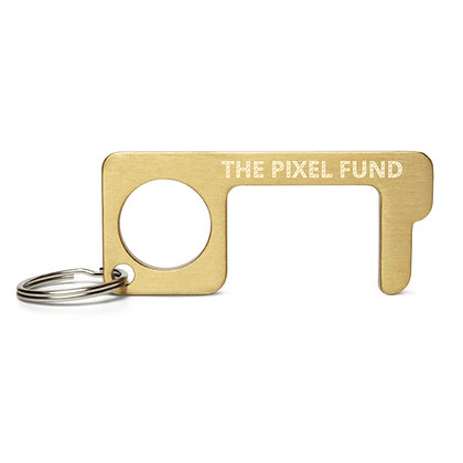 The Pixel Fund Engraved Brass Touch Tool Keychain