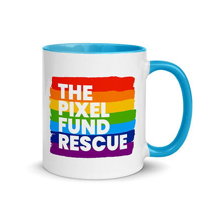 Pixel Has Pride: Logo Mug with Color Inside