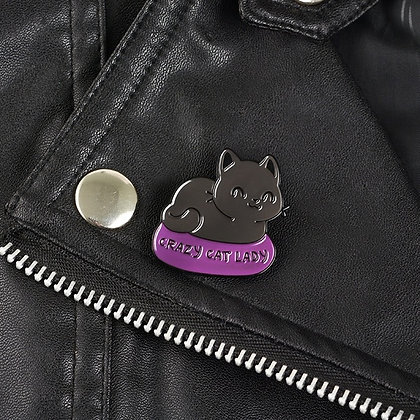 Crazy Cat Lady Pin