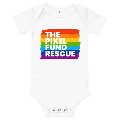Pixel has Pride: Baby short sleeve one piece
