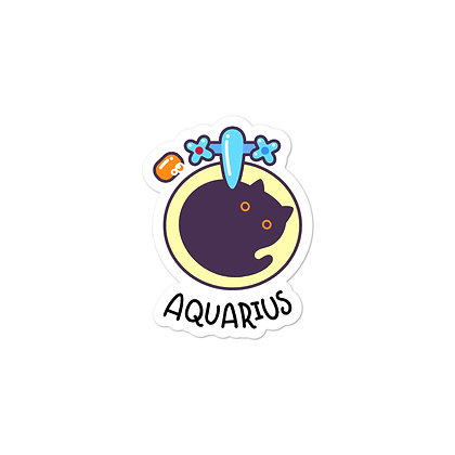 Bubble-free stickers: Aquarius Cat