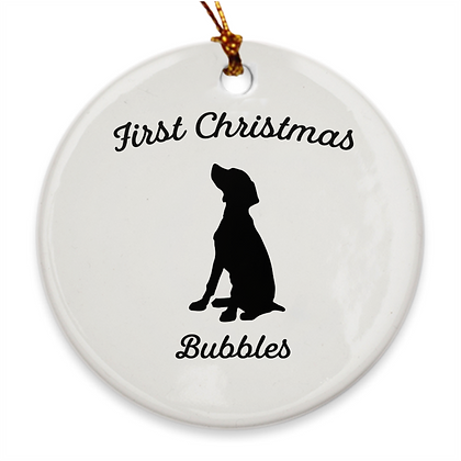 First Christmas Porcelain Holiday Ornament