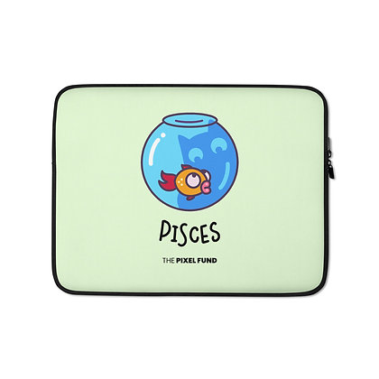 Laptop Sleeve: Pisces Cat
