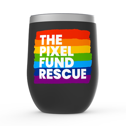 Pixel has Pride: Stemless Wine Tumbler