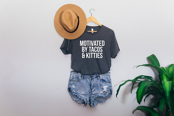 Motivated by tacos and kitties - Short-Sleeve Unisex T-Shirt