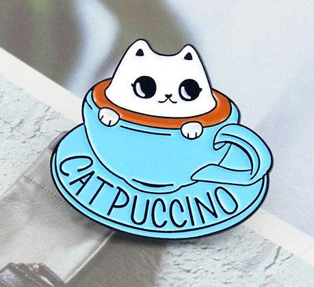 Catpuccino Cat Pin