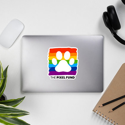 Pixel Has Pride: Paw Bubble-free stickers