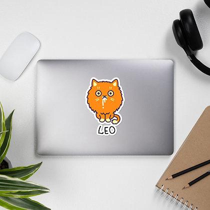 Bubble-free stickers: Leo Cat