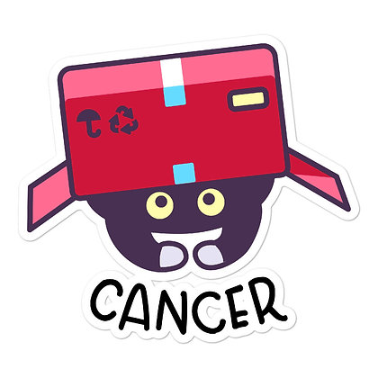 Bubble-free stickers: Cancer Cat