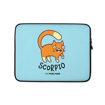 Laptop Sleeve: Scorpio Cat