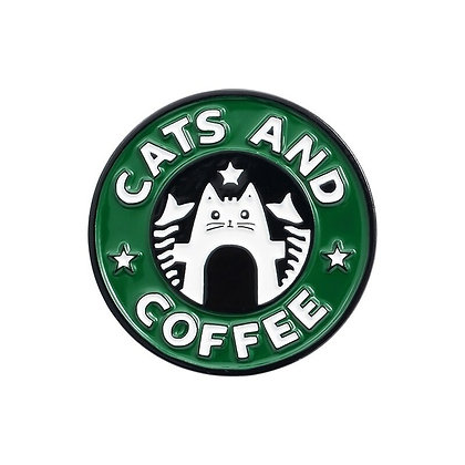 Cats and Coffee Pin