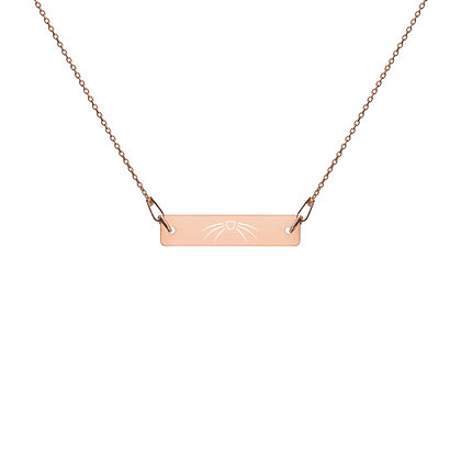 Whiskers: Engraved Silver Bar Chain Necklace