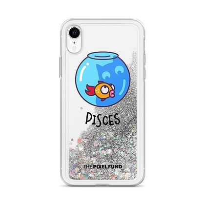 Liquid Glitter Phone Case: Pisces Cat