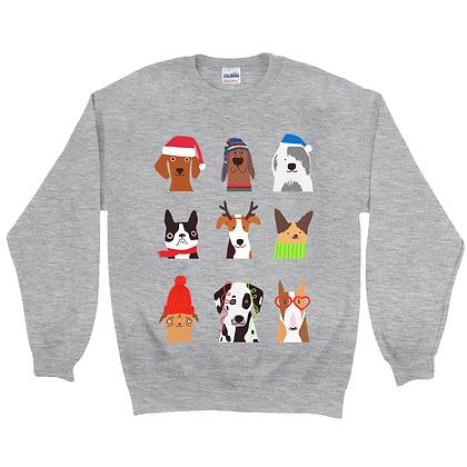 Christmas Dogs Sweatshirt