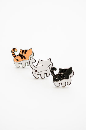 Cute Cat Butt Pin Set