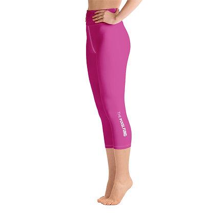 Yoga Capri Leggings: Pink