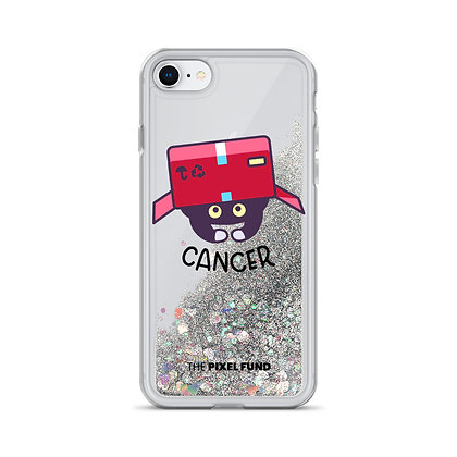 Liquid Glitter Phone Case: Cancer Cat