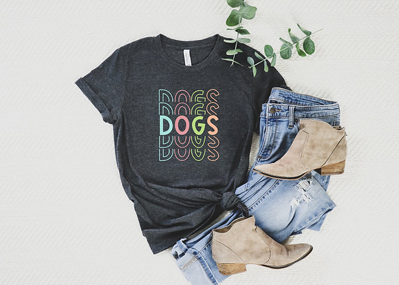 Rainbow Dogs Short-Sleeve Unisex T-Shirt