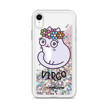 Liquid Glitter Phone Case: Virgo Cat
