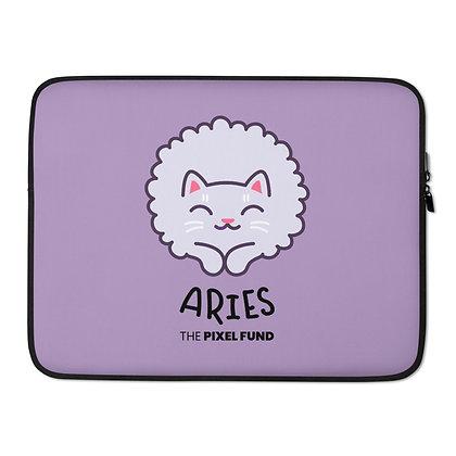 Laptop Sleeve: Aries Cat
