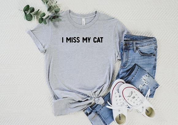 I miss my cat Short-Sleeve Unisex T-Shirt