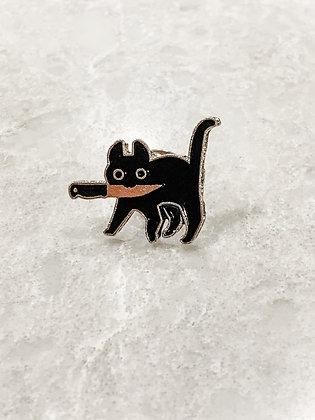 Black Cat Knife Pin