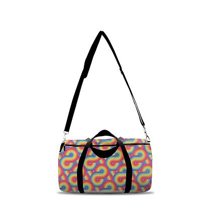 Pixel has Pride: Rainbow Duffle Bag