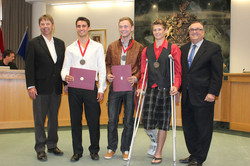 Golden touch for Leduc Track Boys.