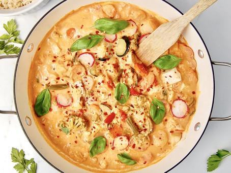 Almond Milk Thai Red Curry