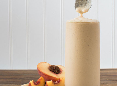 Peach, Banana + Brazil Nut Smoothie