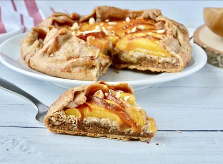 Dairy Free Peach & Almond Galette