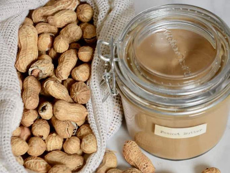 Simple Homemade Two-Ingredient Peanut Butter by Alphafoodie