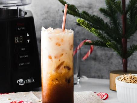 Peppermint Cashew Oat Milk Latte by Kayla Freitag