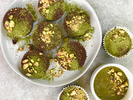 Pistachio Butter Matcha Chocolate Cups